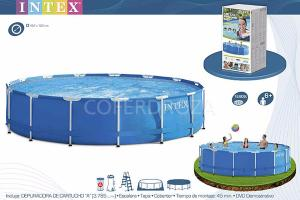 PISCINA METAL C/ DEPURADORA INTEX  28736NP